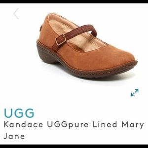 UGG KANDACE UGGPURE LINED MARY JANE SANDALS NEW 7